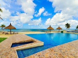 Cozumel Villa Coralina, Costa del Sol Beachfront Infinity Pool, Hot Tub Jacuzzi