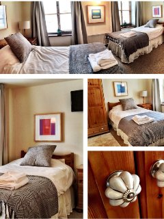 Twin bedroom.  (Benefits from an en-suite bathroom)