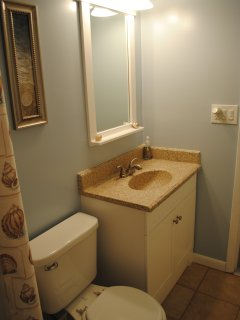 Master bath is located right next to the master bedroom
