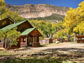 New! Secluded 2BR Jemez Springs Riverfront Cabin!
