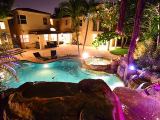 8BR Magical Miami Castle with Movie Theater and Water Slide!