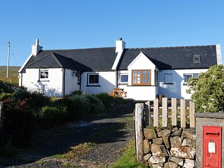 Burnside Cottage - with stunning sea views towards the Outer Hebrides