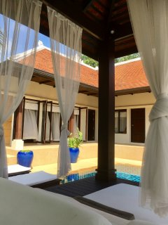 The sala, the pool pavillion.