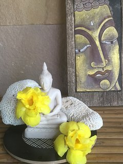 Some of the Buddhas decorating our villa.