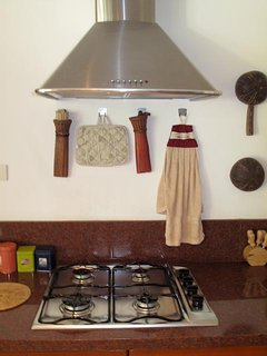 The kitchen area fully equipped.