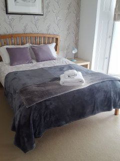 Double bed with luxury linens