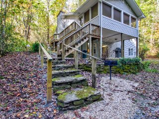 Creekfront cabin on 2.5 wooded acres, near state parks and national forest land!