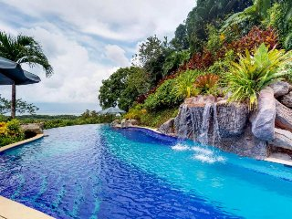Quiet hillside villa w/ lush surroundings, 180-degree views, & private pool!