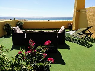 BEACHFRONT APARTMENT KAMRA. SEA VIEWS, TERRACE, NEXT TO CENTER AND POOL