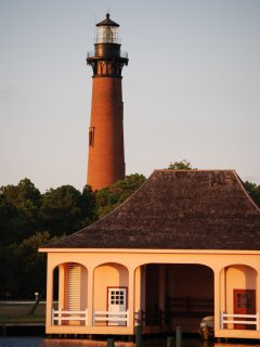 Currituck Beach Light: A working lighthouse just up the road on the sound.