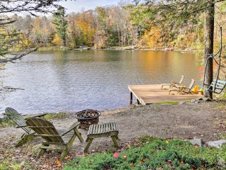 Waterfront Home in Tolland w/ Deck - Steps to Lake