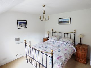 Main bedroom with king sized bed and stunning views