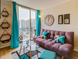Departamento colorido con gran vista - Colorful apartment with great view