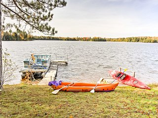 NEW! Cozy South Turtle Lake Studio w/Fishing Pier!