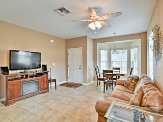 Tile floors, clean walls, and comfortable furnishings invite you into the home-away-from-home.