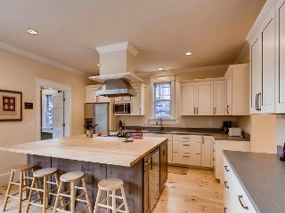 Walk to everything from this newly remodeled in-town retreat; hot tub & views