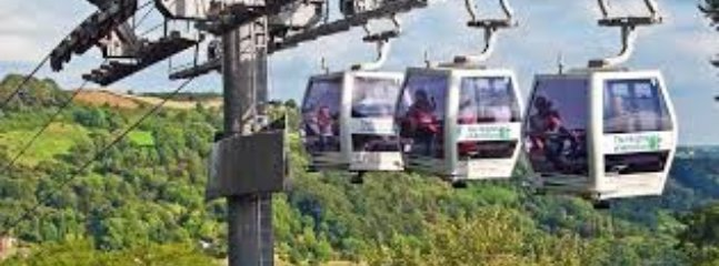 The Heights of Abraham cable cars at Matlock Bath