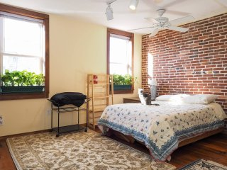 John Waters Suite, walk 2 JHMI, Fells Point, Harbor East, private en-suite bath