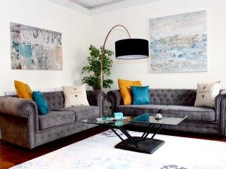 Designer house large living room.