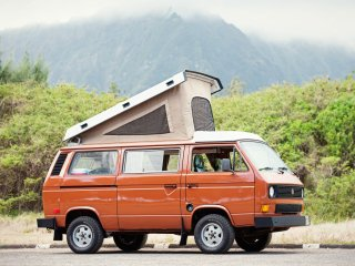 Oahu Camper Van for Hire. See Hawaii your way in a Classic VW pop top Camper Van