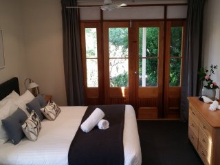 King Size Bedroom 1. Includes an additional 5th Bedroom with single bed in the little 'retreat'.