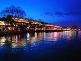 Bars along the lake at night, 2 minutes walk from Gladys Garden