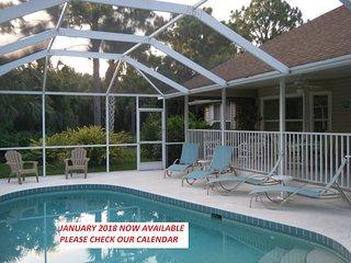 'Old Florida Style' Villa + Heated Pool & Spa