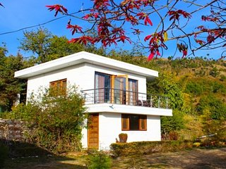 Standalone cottage nestled amidst greenery
