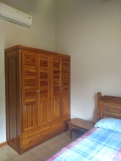 Full-size wardrobe in each bedroom