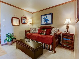 Mountain view ski-in/ski-out condo with shared pool/hot tub!