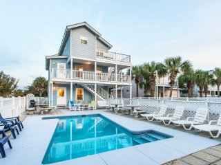 Beach House of Stress Relief- 6BR- Pool-3 Kitchens-Dec 14 to 17 $1548-Walk2Beach