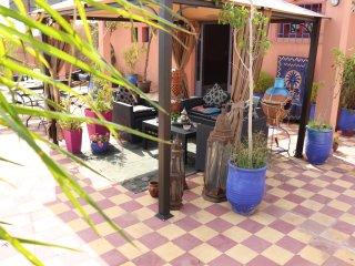 'Yellow' Gueliz 2 beds, 2 rooms, 2 terraces, no doorman