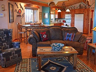 A Taos Treasure awesome art and color -panoramic sweeping mountain views