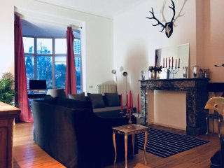 Beautiful artist  apartment with two balconies in the heart of Brussels