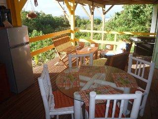 Ti-coco: agreable location avec vue mer, sur les hauteurs de Marie-Galante.