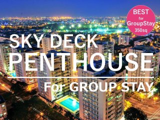 ★The Penthouse View fm Roof Terrace|8BD for Group