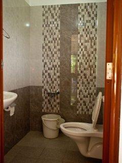 Toilet in living area