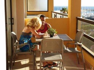 327 Aguamarina Apartment,  big balcony, nice seaside view, Heated Pool, WIFI
