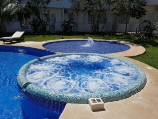 Penthouse studio w/ roof terrace & swimming pool!