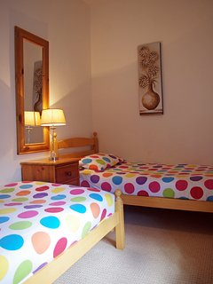 Either twin room can be made up with childrens' bedding to make the little ones feel at home!