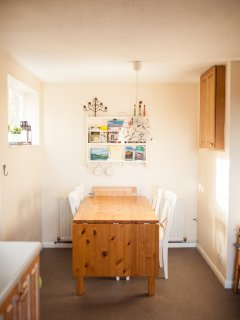 Second eating area in kitchen