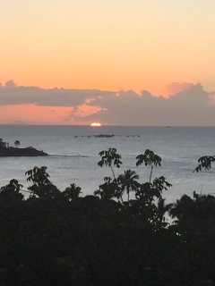 A view of the gorgeous sunset you can see from the villa every evening.
