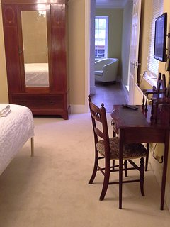 Bedroom area looking through to kitchenette and on to the dining/ sitting room area.