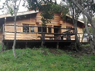 Arriendo cabaña rústica maravillosa con río Trancura, entorno natural  tranquilo