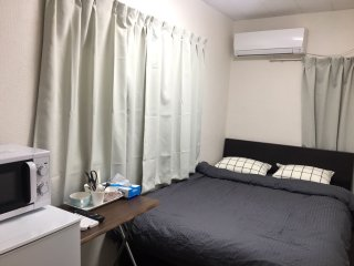 Standard double room .Namba 9min by subway★supermarket★Free pocket wifi