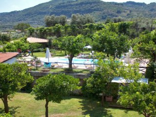 Pool, solarium, garden view at complex in sorrento center with apartments respire journey vacation