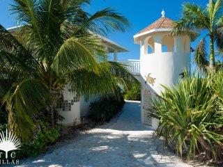 Turtle Beach Villa 5BR on Grace Bay Beach with beach hammocks and pool