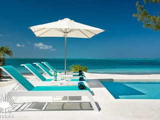 Private Beachfront 6BR Villa on Grace Bay Beach with Two Pools & Snorkeling