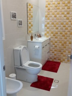 Luxury bathroom with bidet