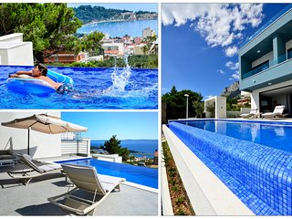 Villa Nina, Makarska with heated infinity pool and stunning sea views